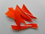 "3"" R/W Shield - flo. Orange"